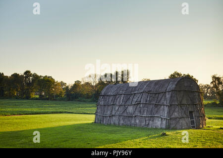 The Longhouse at the Hans Herr House, a museum in Willow Street, Lancaster County, Pennsylvania, USA - Stock Image