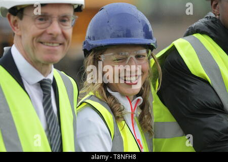 Katrina Hart during the ceremonial ground breaking of the Commonwealth Games 2022 Athletes Village, in Perry Barr, Birmingham - Stock Image
