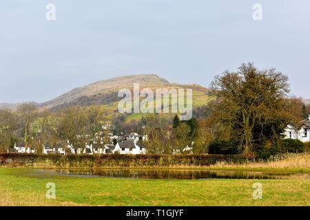 Flooded field, Ambleside ,Lake District,Cumbria,England,UK - Stock Image