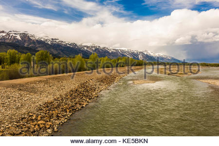 Snake River, Jackson Hole, Wyoming, USA - Stock Image