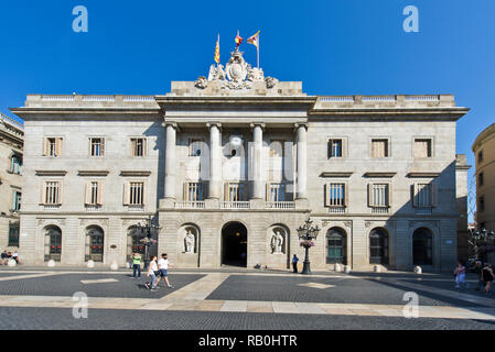 The exterior of the City Hall building, Barcelona, Spain - Stock Image