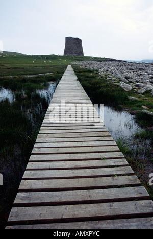 Mousa broch ancient historic monument Shetland - Stock Image