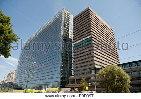 Rijswijk The Netherlands European Patent Office. Patentamt. Office europees des brevets. New and Old buildings. - Stock Image