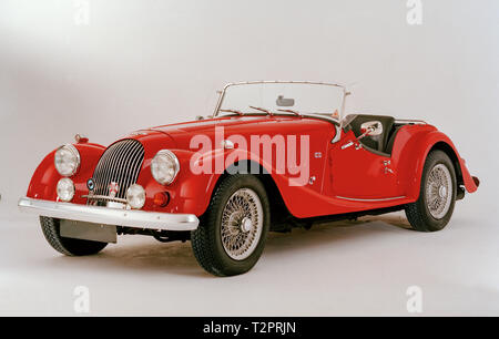 Red Britisch convertible Morgan car - Stock Image