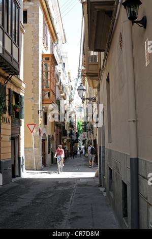 Calle Apuntadores in Palma, Mallorca, Spanien.   Calle Apuntadores in Palma, Majorca, Spain. - Stock Image
