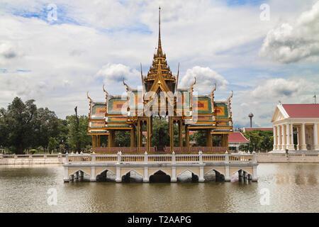 Floating Pavilion at Bang Pa-In Palace, Ayutthaya, Thailand. - Stock Image