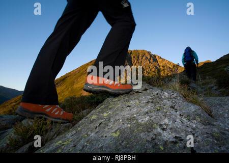Wanderszene am Kellerjoch, Tuxer Alpen, Zillertal, Tirol, Österreich - Stock Image