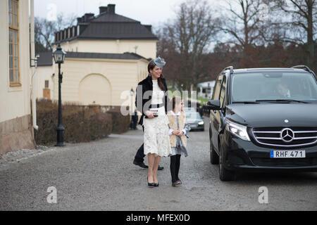 Drottningholm Church, Stockholm, Sweden, 1th December, 2017. HRH Prince GABRIEL Carl Walther baptisted. - Stock Image