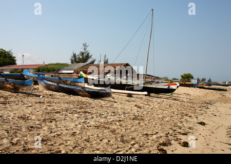 Boats on Tulear Beach, Anakao, Southern Madagascar, Africa. - Stock Image
