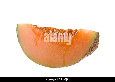 A slice of melon. - Stock Image