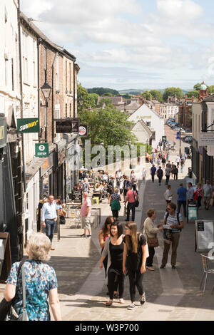 People walking through Durham city centre, in Co. Durham, England, UK - Stock Image