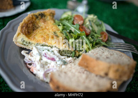 Healthy Lunch on plate - Stock Image
