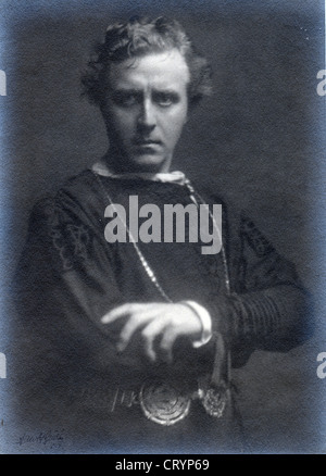 E H Sothern as Hamlet, 1905, by Arnold Genthe - Stock Image