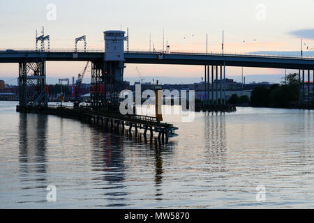 "Göta Älvbron in Gothenburg Aka ""Hisings Bridge"" - Stock Image"