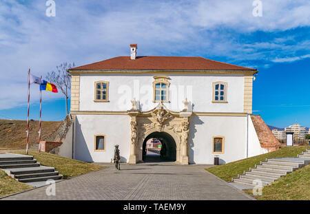 The 4rd Gate of the Citadel Alba-Carolina in Alba Iulia, Romania, officially declared Capital of the Great Union of Romania - Stock Image
