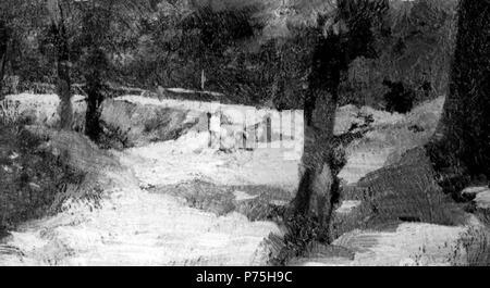 .  eština: Dlníci na lesní cest  before 1931 140 Hermina Laukotova 24.1.1853-17.1.1931 - Delnici na lesni ceste - Stock Image