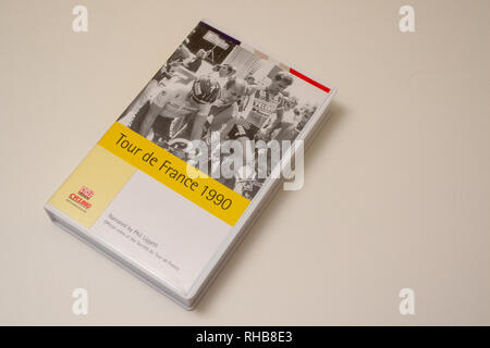 VHS video tape of the 1990 Tour de France - Stock Image
