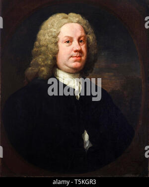William Hogarth, Dr Benjamin Hoadly MD, portrait painting, early 1740s - Stock Image