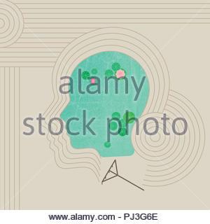 zen garden - Stock Image