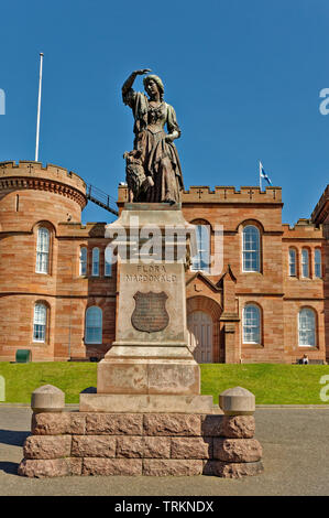 INVERNESS CITY SCOTLAND CENTRAL CITY FLORA MACDONALD STATUE IN FRONT OF THE CASTLE - Stock Image