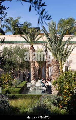 he Secret Garden Marrakech, aka Le Jardin Secret, garden museum, Marrakesh medina, Marrakech Morocco North Africa - Stock Image