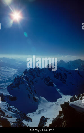"St. Anton am Arlberg ""Cradle of Alpine skiing"" in Austria is a snowy paradise both of high altitude and high quality - Stock Image"