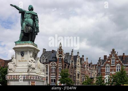 Friday Market Ghent Belgium - Stock Image