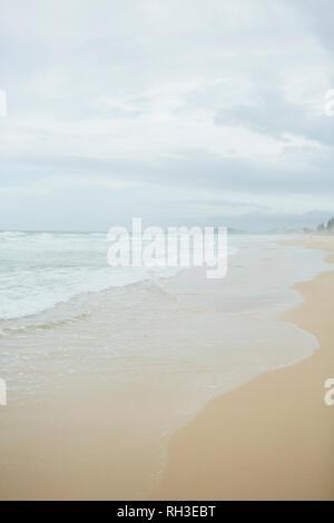 View of empty beach - Stock Image