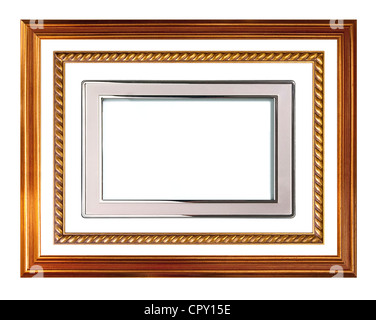 picture frame collection, isolated on white - Stock Image