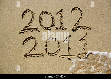 The year 2011 crossed out and 2012 coming into affect. Please see my collection for more similar photos. - Stock Image
