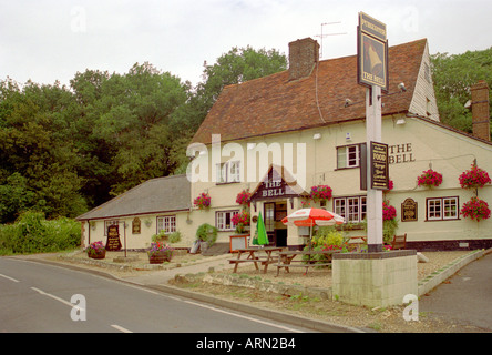 The Bell Public House, Studham, Hertfordshire, UK - Stock Image