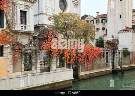 Autumn in Venice - Stock Image