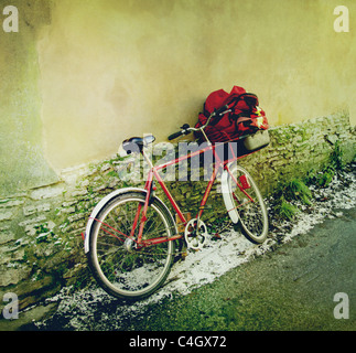 postman's bike - Stock Image
