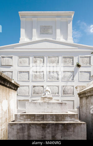 Historic Tombs in the St Louis Cemetery No 1, New Orleans, Louisiana, USA. - Stock Image