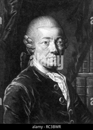 ANTON von STÖRK (1731-1803) Austrian physician - Stock Image