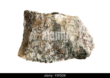 Carbonatite with alkaline silicate minerals - Stock Image