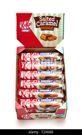 Kitkat Chunky,Salted Caramel fudge,24 pack. - Stock Image