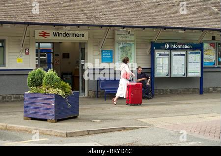 Windermere Railway Station. - Stock Image