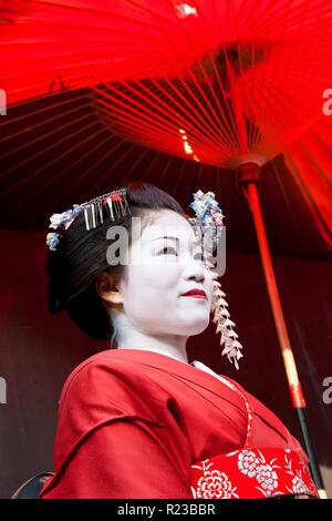 Kyoto, Japan - January 2011: Geisha, Kyoto, Japan - Stock Image