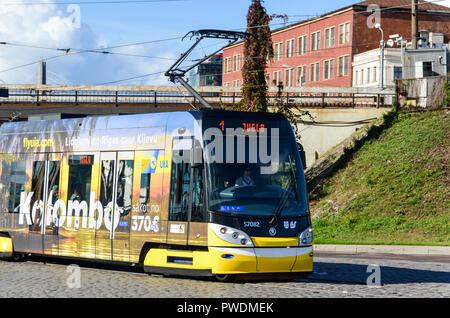 Tramway in Riga, Latvia - Stock Image