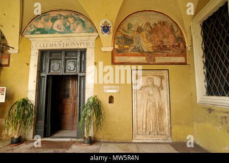 italy, rome, church of sant'onofrio al gianicolo, entrance to the church - Stock Image