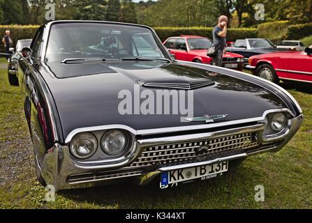 Ford Thunderbird (third generation), Small Classic Car Show, Germany - Stock Image