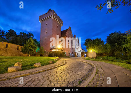 Poznan, Poland. View of Royal Castle at dusk - Stock Image