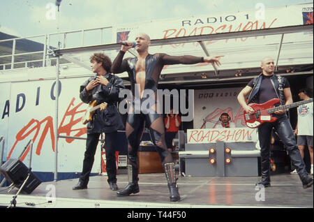 RIGHT SAID FRED English pop group in 1991 - Stock Image