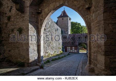 Rothenburg ob der Tauber, Altstadt - Stock Image
