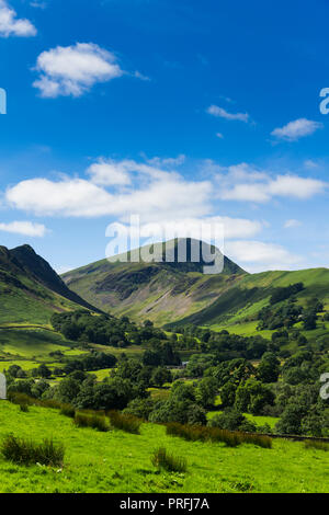 Newlands valley Cumbria, looking south-west from Littletown towards  Robinson. Beyond Robinson lies Buttermere Fell. - Stock Image
