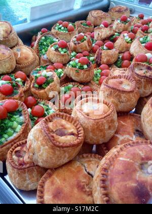 Pork pie heaven. - Stock Image