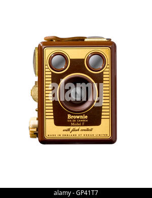 A cut out shot of a Box Brownie camera. - Stock Image