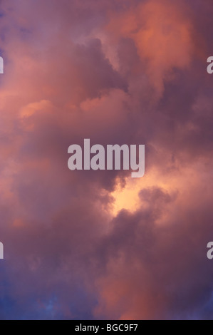 Dramatic storm clouds - Stock Image