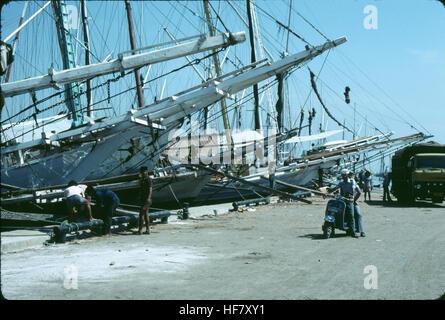 Ships in the harbor; Jakarta, Java, Indonesia. - Stock Image
